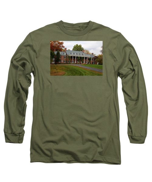 Wildwood Manor House In The Fall Long Sleeve T-Shirt by Michiale Schneider