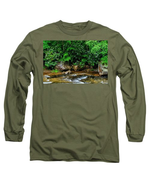 Williams River And Rhododdendron Long Sleeve T-Shirt