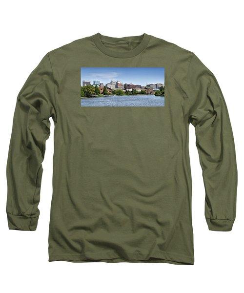 Wilmington Delaware Skyline Long Sleeve T-Shirt by Brendan Reals