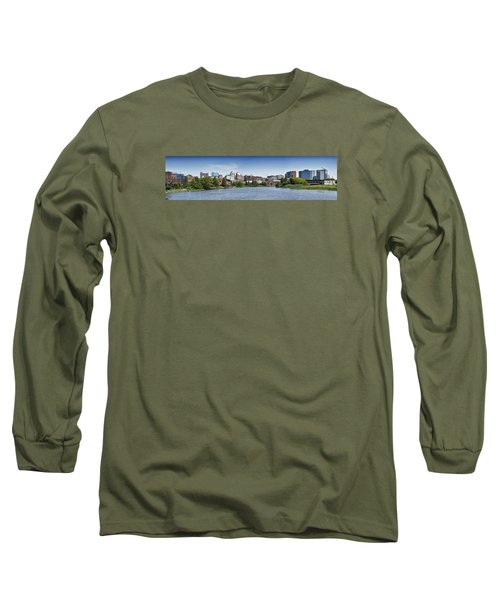Wilmington Skyline Panorama - Delaware Long Sleeve T-Shirt by Brendan Reals