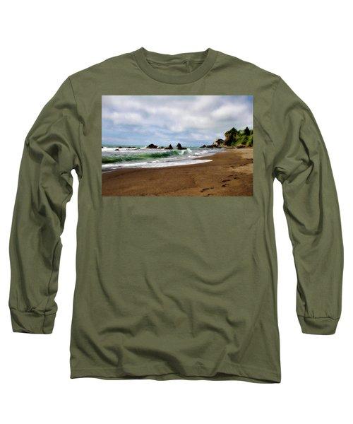 Wilson Creek Beach Long Sleeve T-Shirt by Lana Trussell