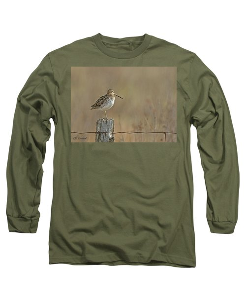 Wilson's Snipe On A Post Long Sleeve T-Shirt by CR Courson