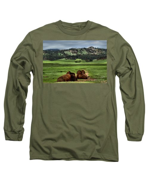 Wind Cave Bison Long Sleeve T-Shirt