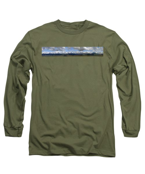Dm9504-wind River Range Panorama  Long Sleeve T-Shirt