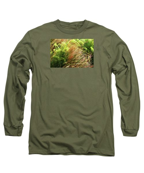 Windblown Grasses Long Sleeve T-Shirt