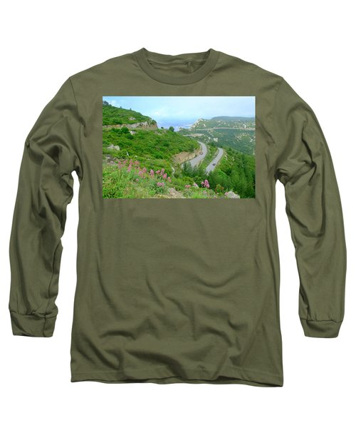 Long Sleeve T-Shirt featuring the photograph Winding Road by August Timmermans