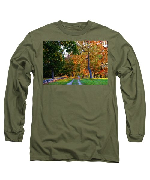Winding Road In Autumn Long Sleeve T-Shirt