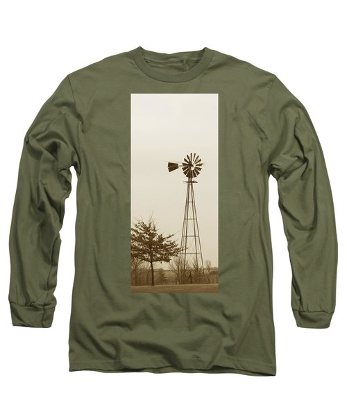 Long Sleeve T-Shirt featuring the photograph Windmill #1 by Susan Crossman Buscho
