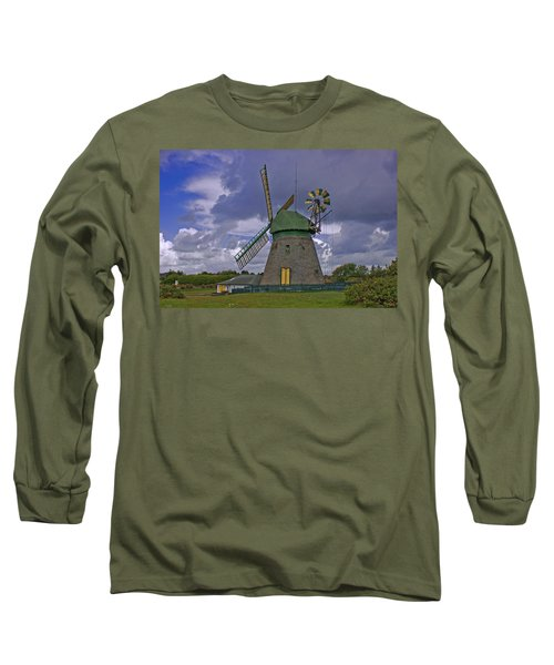 Windmill Amrum Germany Long Sleeve T-Shirt