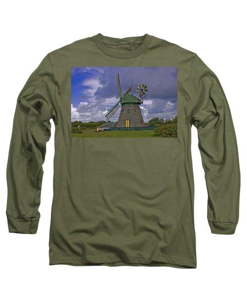 Windmill Amrum Germany Long Sleeve T-Shirt