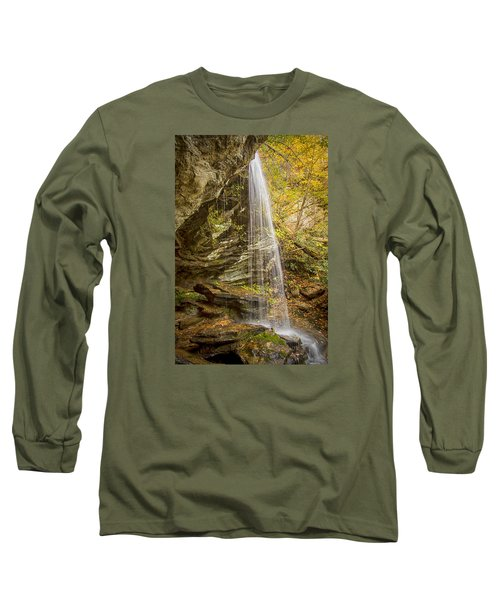 Long Sleeve T-Shirt featuring the photograph Window Falls In The Autumn by Bob Decker