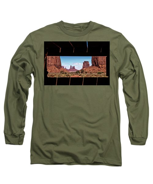 Window Into Monument Valley Long Sleeve T-Shirt by Eduard Moldoveanu