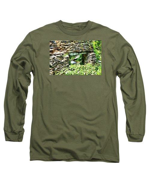Window View Of Sope Creek Long Sleeve T-Shirt