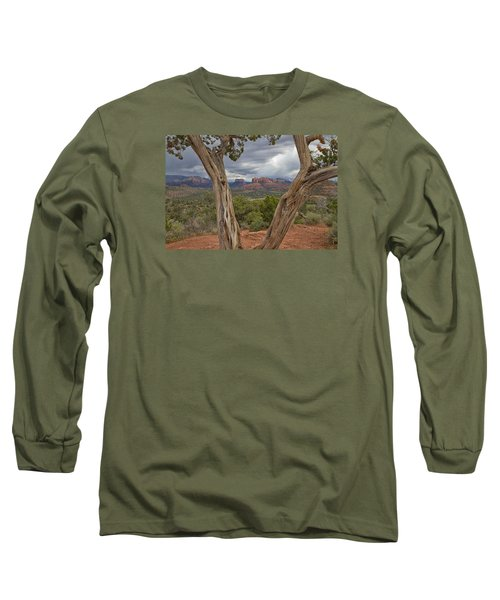 Long Sleeve T-Shirt featuring the photograph Window View by Tom Kelly