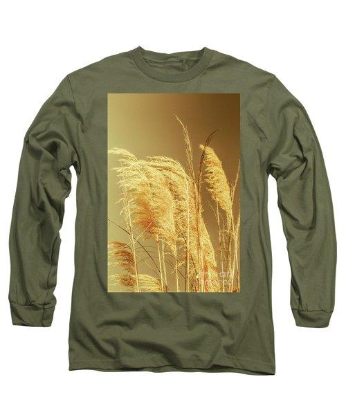 Windswept Autumn Brush Grass Long Sleeve T-Shirt