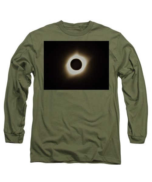Windy Corona During Eclipse Long Sleeve T-Shirt