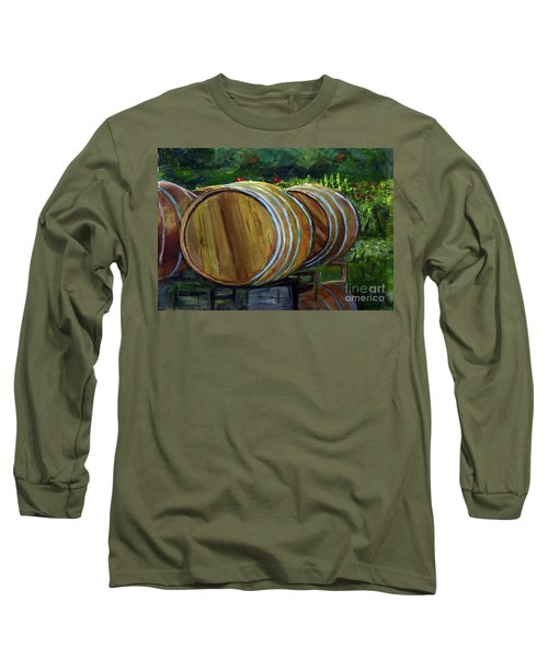 Wine Barrels Long Sleeve T-Shirt