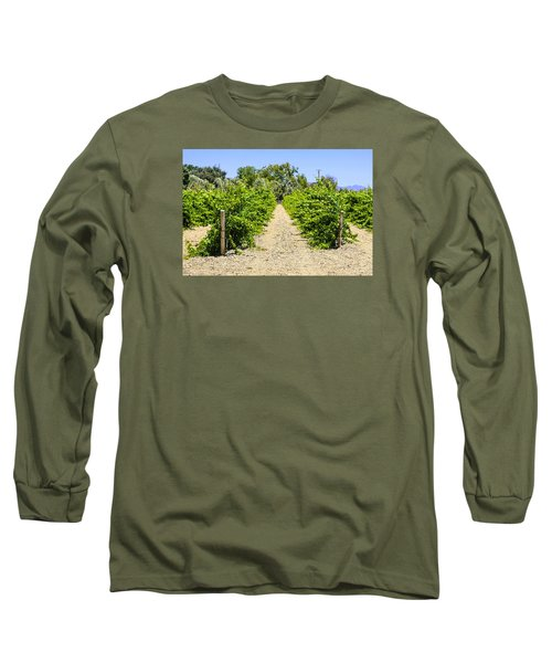 Wine On The Vine Long Sleeve T-Shirt by Chris Smith