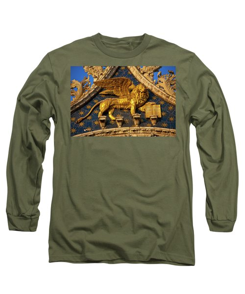 Long Sleeve T-Shirt featuring the photograph Winged Lion by Harry Spitz