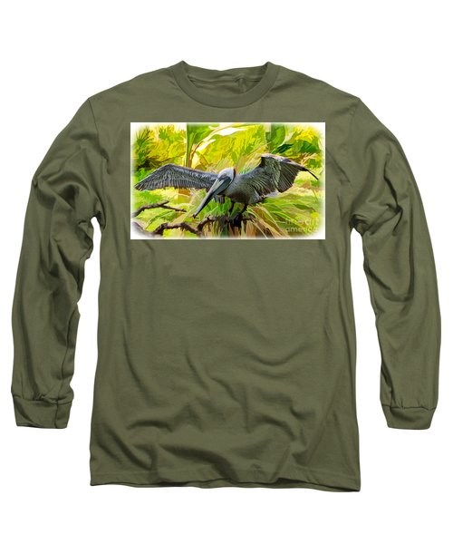 Winging It  Long Sleeve T-Shirt by Judy Kay