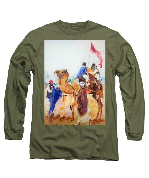 Winning Celebration Long Sleeve T-Shirt by Khalid Saeed