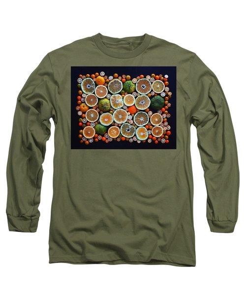 Winter Citrus Mosaic Long Sleeve T-Shirt