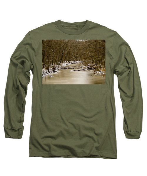 Long Sleeve T-Shirt featuring the photograph Winter Creek by Bonnie Willis