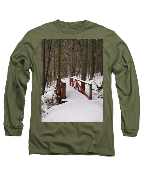 Long Sleeve T-Shirt featuring the photograph Winter Crossing by Sara  Raber
