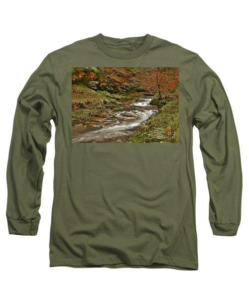 Winter Forest Stream Long Sleeve T-Shirt
