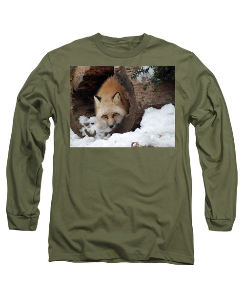 Winter Fox Long Sleeve T-Shirt by Richard Bryce and Family