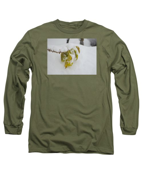 Long Sleeve T-Shirt featuring the photograph Winter Leaves by Deborah Smolinske