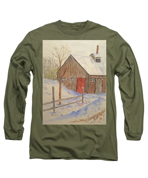 Winter Sugar House Long Sleeve T-Shirt by Stanton Allaben