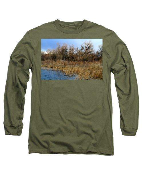 Winter Trees Along The Snake Long Sleeve T-Shirt