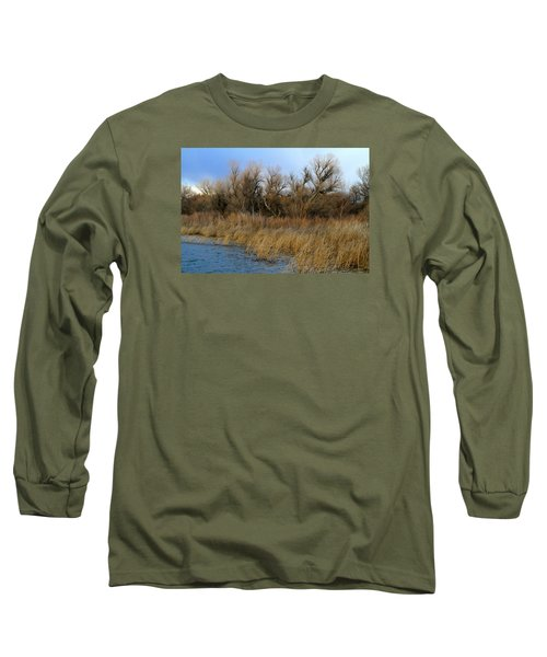 Winter Trees Along The Snake Long Sleeve T-Shirt