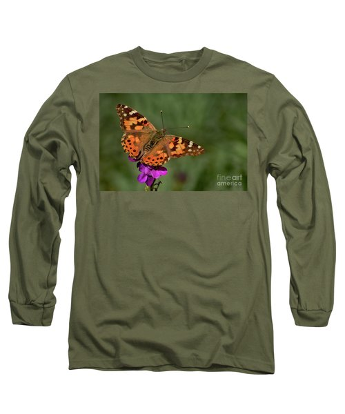 Long Sleeve T-Shirt featuring the photograph Winter Visitor by Debby Pueschel