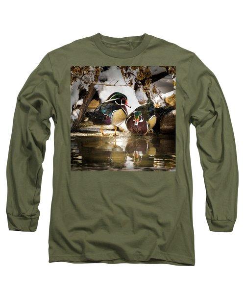 Winter Visitors - Wood Ducks Long Sleeve T-Shirt