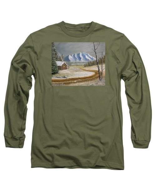 Winter's Arrival Long Sleeve T-Shirt by Sheri Keith
