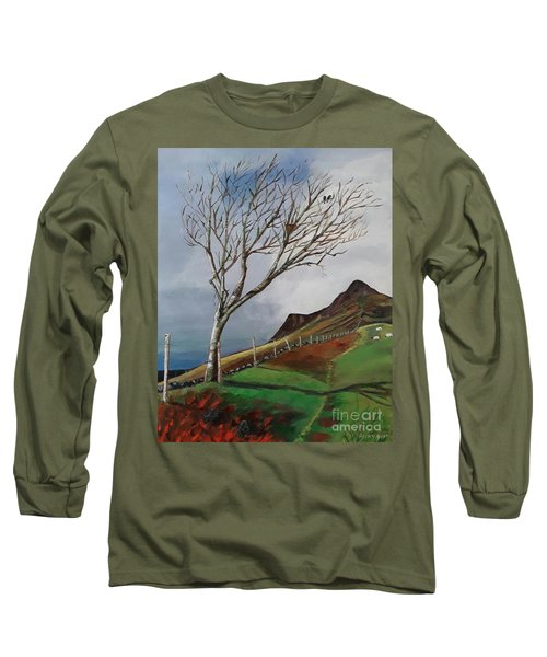 Winter's Day At Yewbarrow -painting Long Sleeve T-Shirt