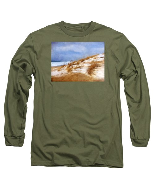 Long Sleeve T-Shirt featuring the photograph Wintertime St. Joe Lighthouse  by Kathi Mirto