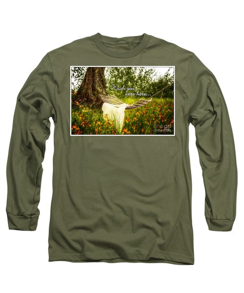 Wish You Were Here 140629 Postcard Style Long Sleeve T-Shirt