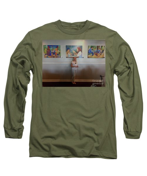 With 3 Paintings Long Sleeve T-Shirt