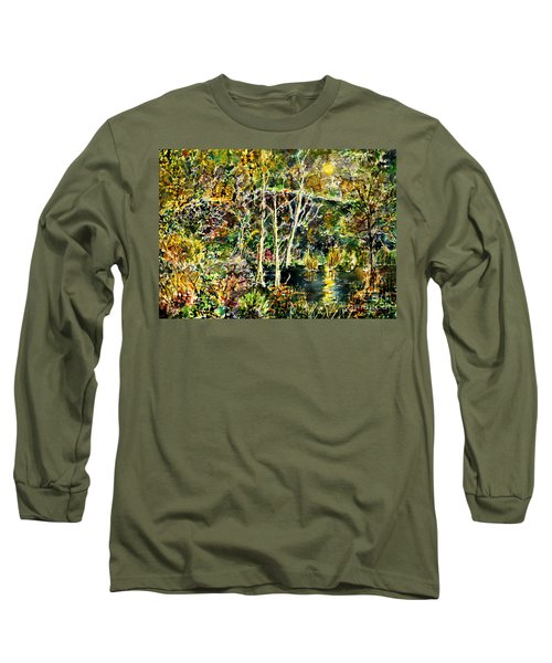 Long Sleeve T-Shirt featuring the painting Wolven Moon by Alfred Motzer