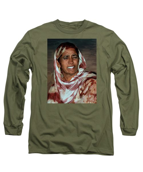Woman A Struggler Long Sleeve T-Shirt by Manjot Singh Sachdeva