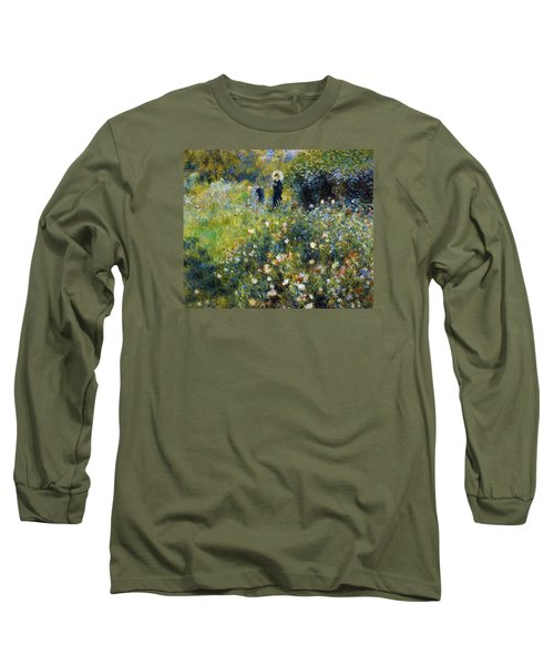 Woman With A Parasol After Renoir Long Sleeve T-Shirt