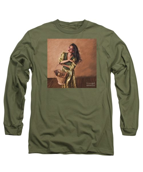 Woman With Pail  ... Long Sleeve T-Shirt by Chuck Caramella