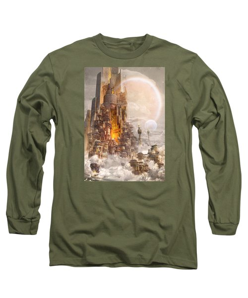 Wonders Tower Of Babylon Long Sleeve T-Shirt by Te Hu