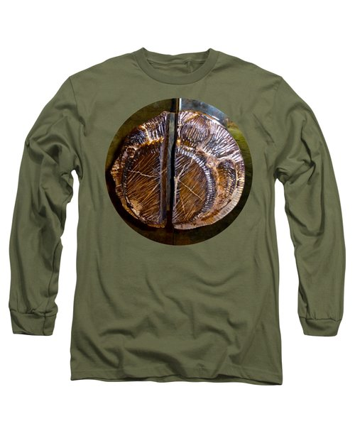 Long Sleeve T-Shirt featuring the photograph Wood Carved Fossil by Francesca Mackenney