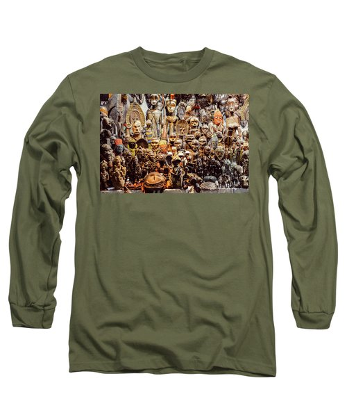 Wooden African Carvings Long Sleeve T-Shirt