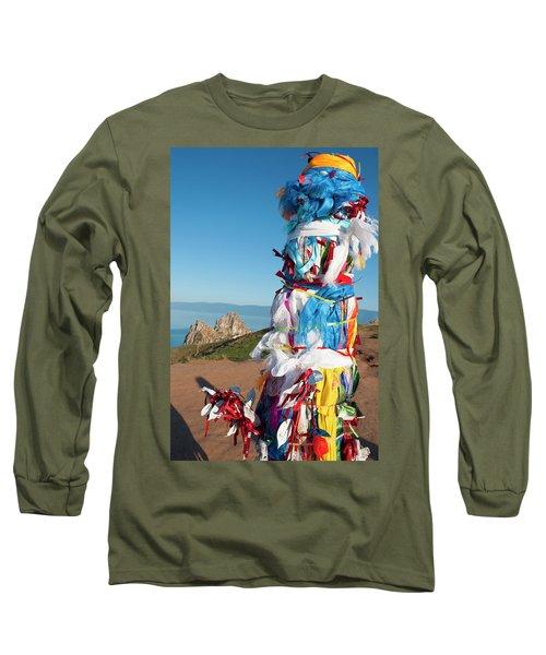 Wooden Shaman Totems  Long Sleeve T-Shirt
