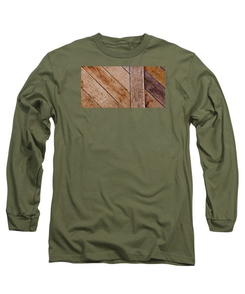 Long Sleeve T-Shirt featuring the photograph Wooden Window Shutters by Werner Lehmann
